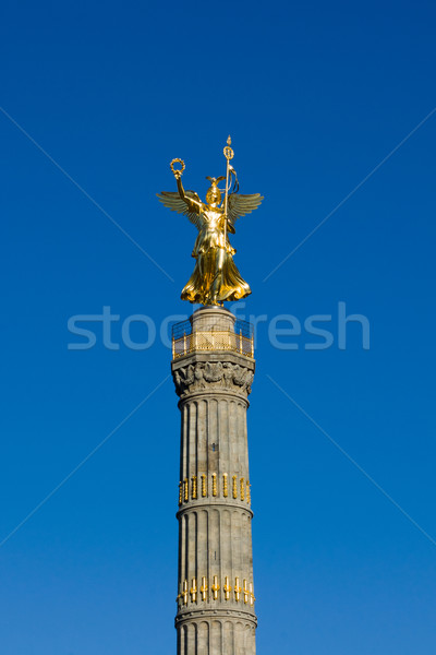 Berlin´s golden Siegessaeule Stock photo © elxeneize