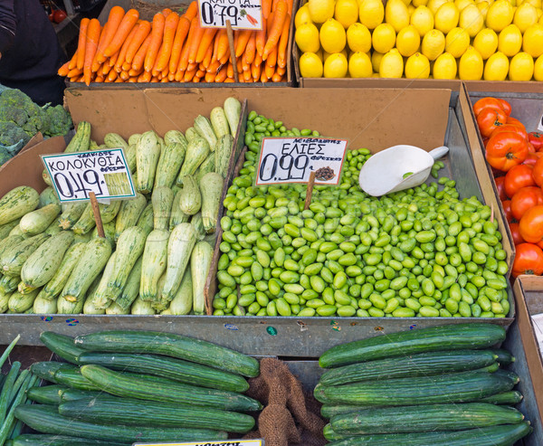 Fresh vegetables on a market Stock photo © elxeneize