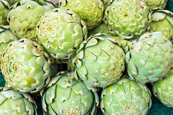Green artichokes for sale  Stock photo © elxeneize