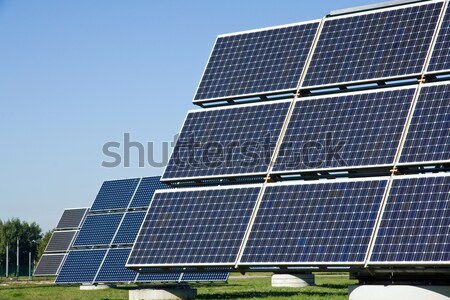 Solar energy panels Stock photo © elxeneize