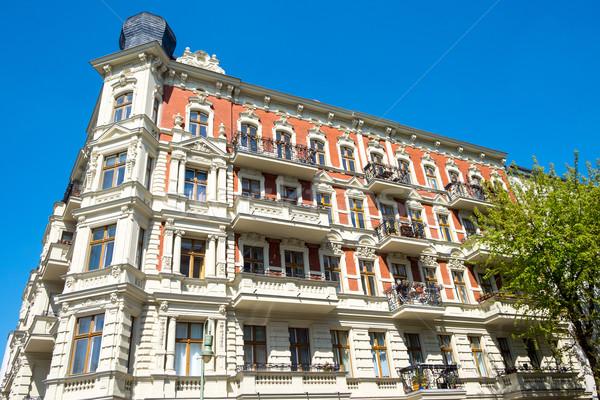 красивой здании Берлин жилой Германия строительство Сток-фото © elxeneize