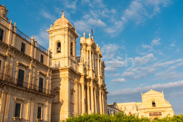 The cathedral of Noto in Sicily Stock photo © elxeneize