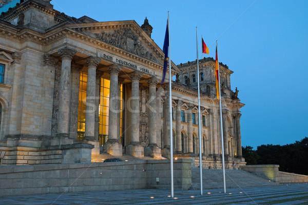The Reichstag in Berlin at dawn Stock photo © elxeneize
