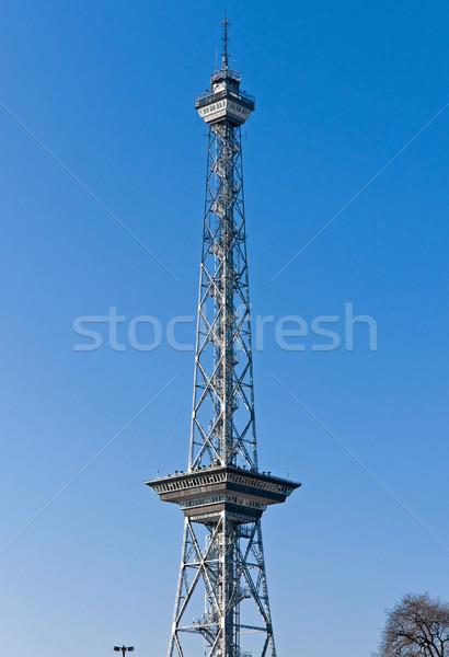 Berlin technológia telefon rádió hullám építészet Stock fotó © elxeneize