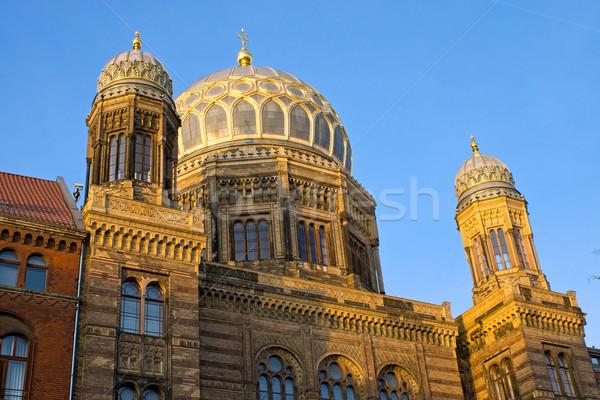 Synagoge Berlijn nieuwe stad kerk reizen Stockfoto © elxeneize