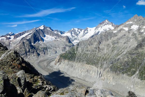 Alpine landscape in Switzerland Stock photo © elxeneize