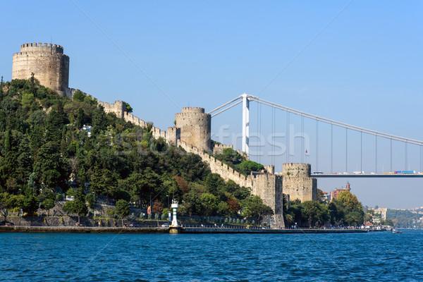 Rumelian castle and the Bosphorus Stock photo © elxeneize