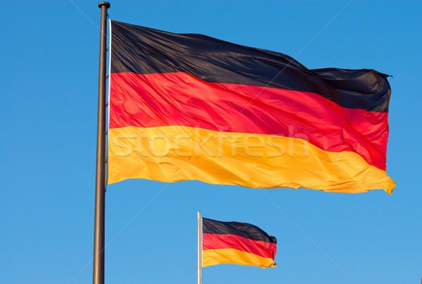 Two german flags flying Stock photo © elxeneize