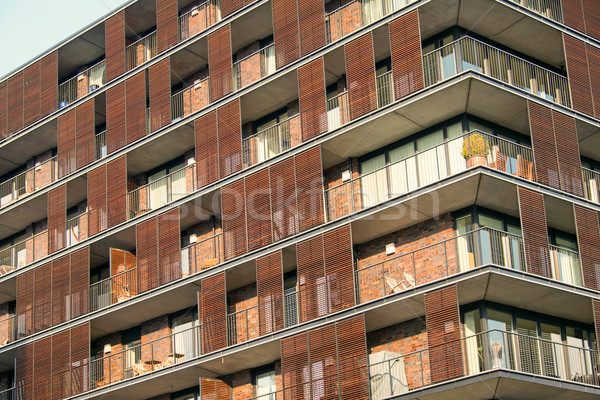 Detail of an apartment house Stock photo © elxeneize