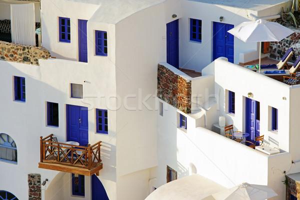 Typical house on the Cyclades  Stock photo © elxeneize
