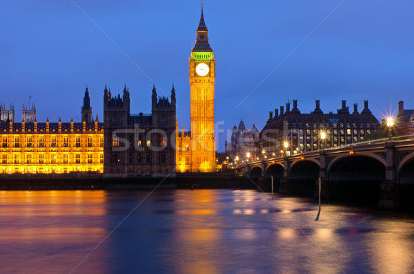 Londons Houses of Parliament Stock photo © elxeneize