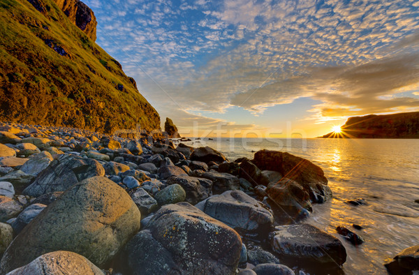 The Talisker Bay at sunset Stock photo © elxeneize