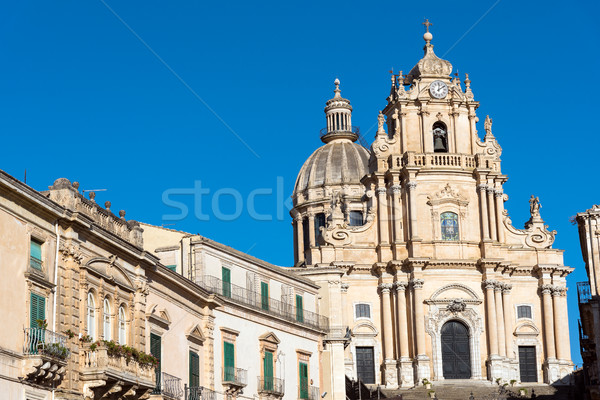 Stock photo: The cathedral in Ragusa Ibla, Sicily