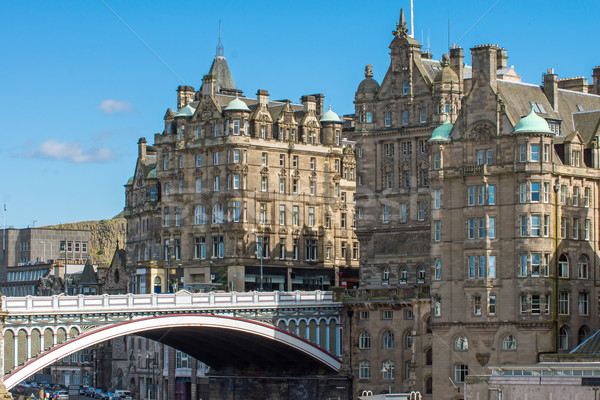 The North Bridge in Edinburgh Stock photo © elxeneize