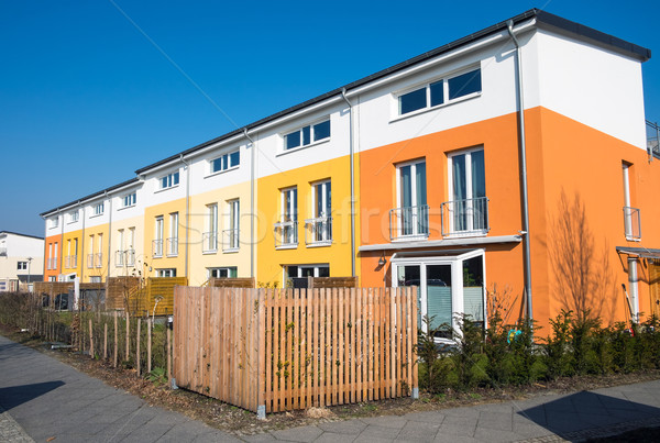 Stock photo: Colorful serial housing in Berlin