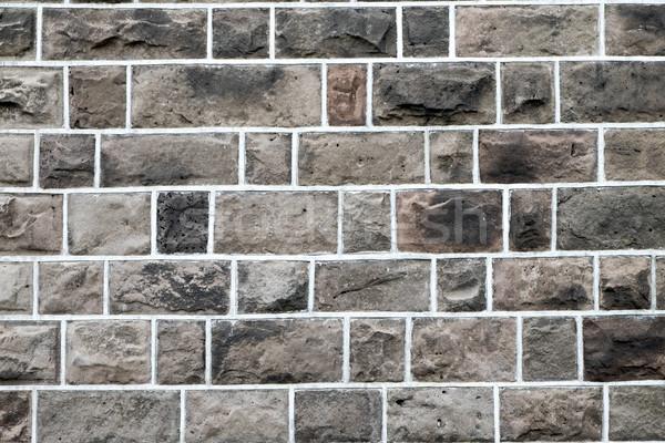 Eski kahverengi taş duvar soyut arka plan taş Stok fotoğraf © elxeneize