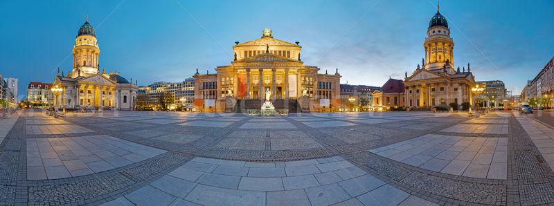 Panorama of the Gendarmenmarkt Stock photo © elxeneize