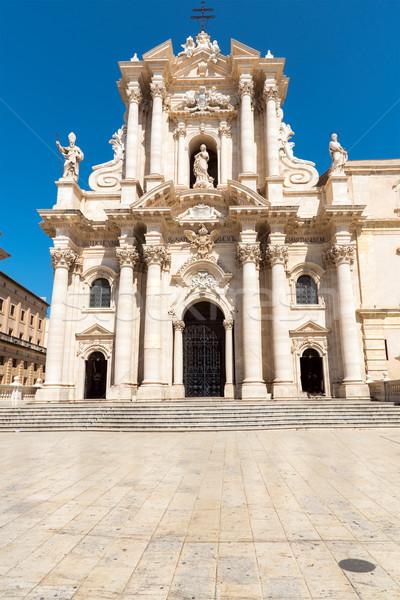 Catedral sicilia Italia cielo edificio ciudad Foto stock © elxeneize