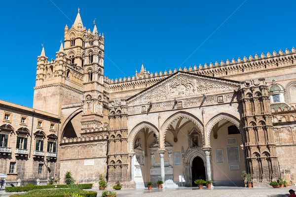 Detay katedral dev sanat kilise seyahat Stok fotoğraf © elxeneize