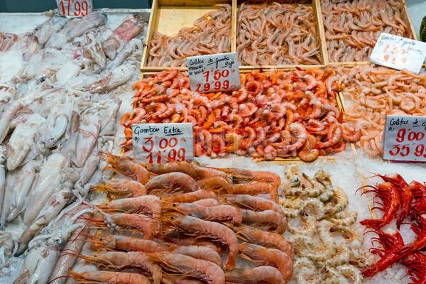 Сток-фото: осьминога · продажи · рынке · Мадрид · Испания