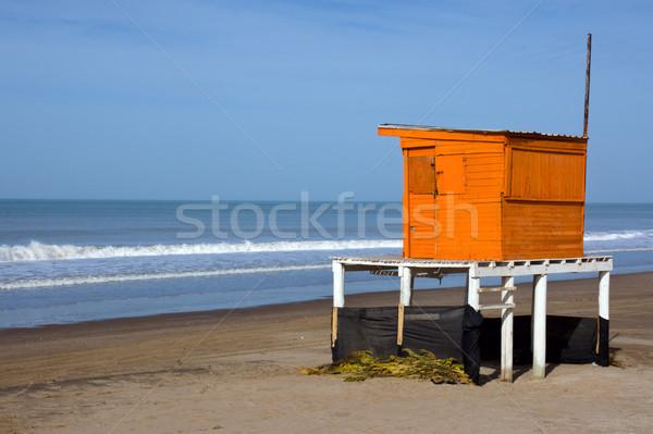 Bagnino torre spiaggia sole estate Foto d'archivio © elxeneize