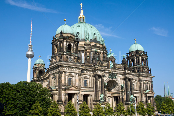 Dom and Fernsehturm in Berlin Stock photo © elxeneize