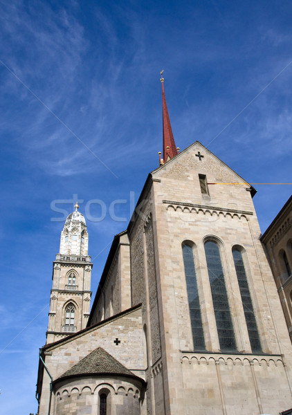 Zürih şehir kilise mimari Avrupa kule Stok fotoğraf © elxeneize