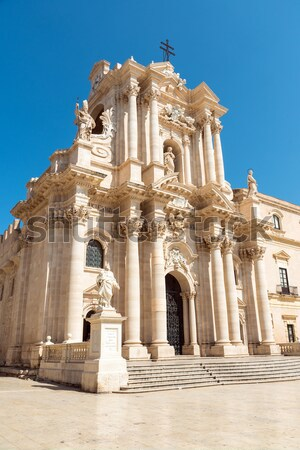 The cathedral of Syracuse in Sicily Stock photo © elxeneize