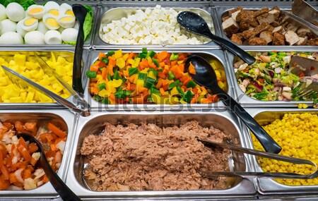 Foto stock: Diferente · mediterrânico · restaurante · bufê · ovo · pimenta
