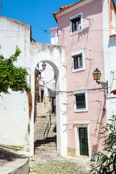 Trimestre Lisboa Portugal rua cena dentro Foto stock © elxeneize