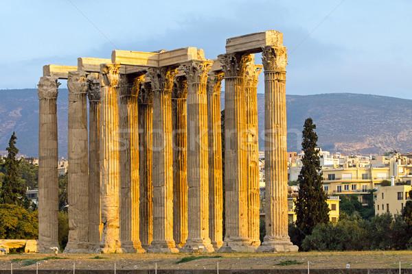 Ancient temple of Zeus Stock photo © elxeneize