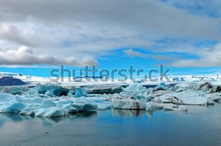 ледник пляж небе пейзаж снега красоту Сток-фото © elxeneize