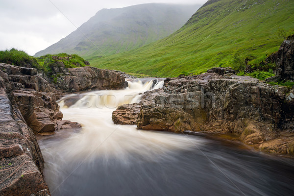 The river Etive in Glen Coe Stock photo © elxeneize
