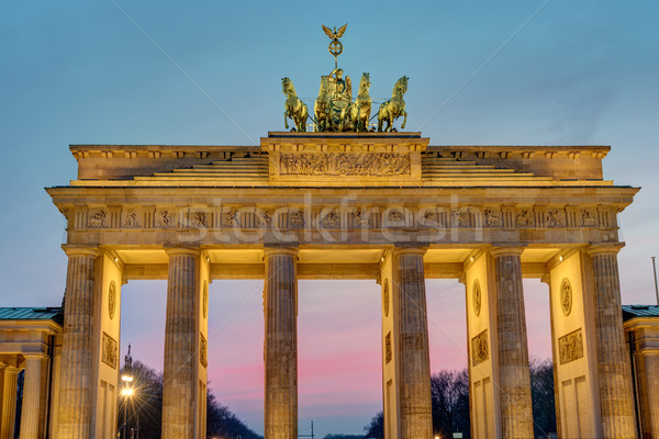 All'alba Berlino Germania costruzione città muro Foto d'archivio © elxeneize