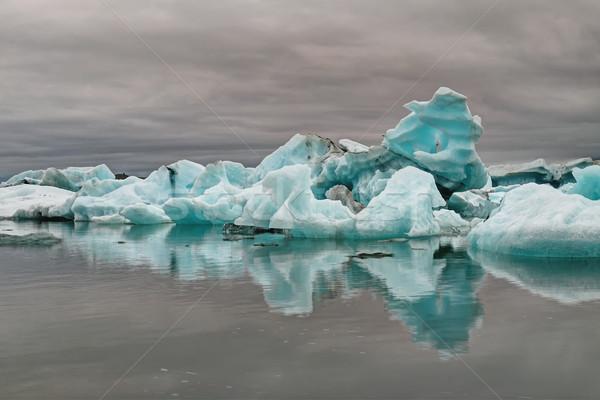синий айсберг бизнеса небе воды морем Сток-фото © elxeneize