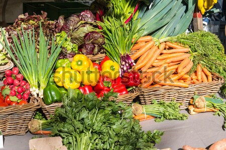 Colorful fresh vegetables for sale Stock photo © elxeneize