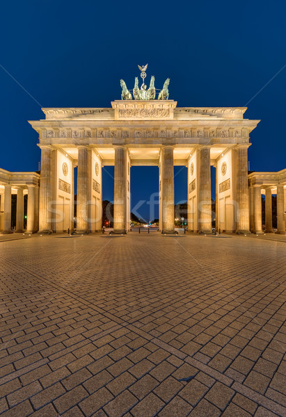The Brandenburger Tor in Berlin at night Stock photo © elxeneize