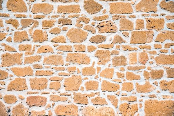 коричневый песчаник стены замок каменные кирпичных Сток-фото © elxeneize