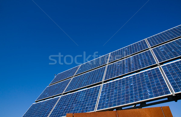 Solar energy panel with a blue sky Stock photo © elxeneize