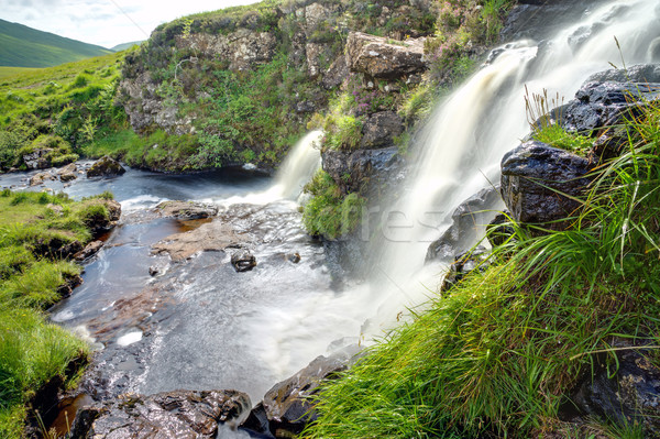 Two waterfalls in Scotland Stock photo © elxeneize