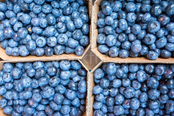 Fresh blueberries Stock photo © elxeneize