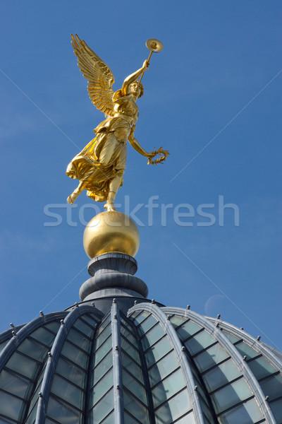Stock photo: Gold angel in Dresden