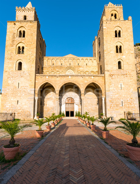 The cathedral of Cefalu in Sicily Stock photo © elxeneize