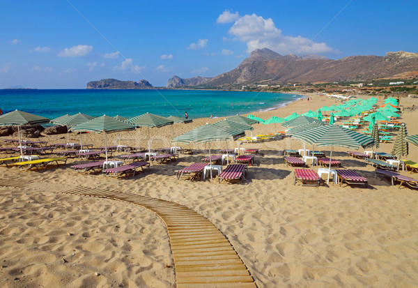 Beach on Crete Island, Greece Stock photo © elxeneize