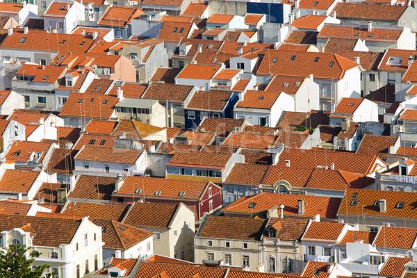 Rooftops in Nazare, Portugal Stock photo © elxeneize