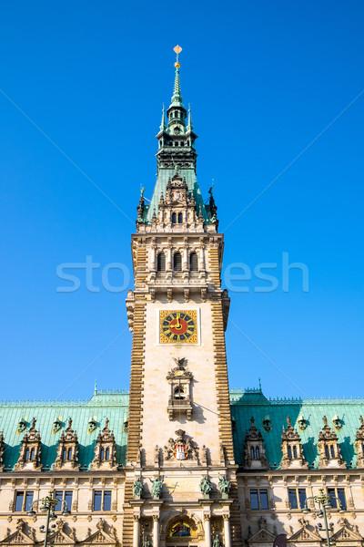 Hamburgo hermosa Alemania casa ciudad Foto stock © elxeneize