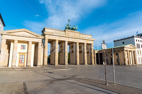 Brandenburger Tor in the morning Stock photo © elxeneize
