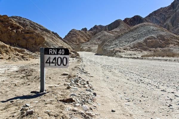 Straat teken 40 Argentinië beroemd noordelijk weg Stockfoto © elxeneize