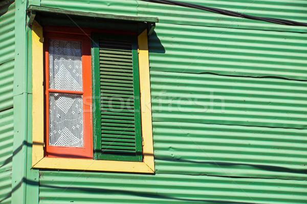 окна Буэнос-Айрес подробность Сток-фото © elxeneize