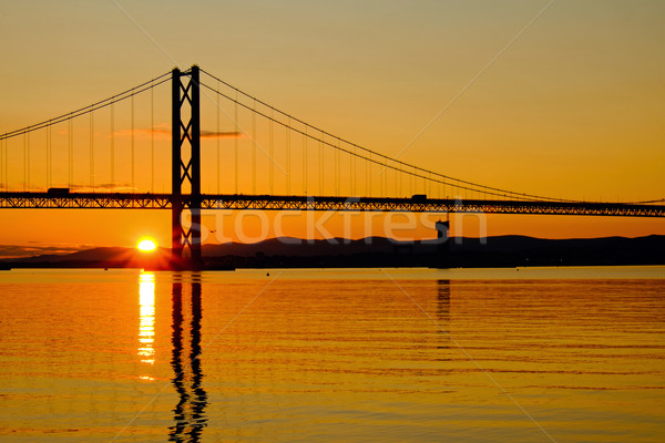 Sunset at the Firth of Forth Stock photo © elxeneize